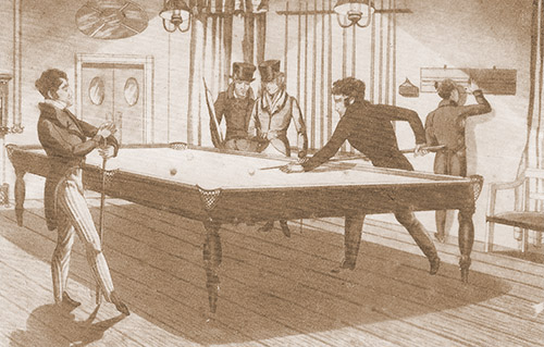 Billiards turn of the 19th century
