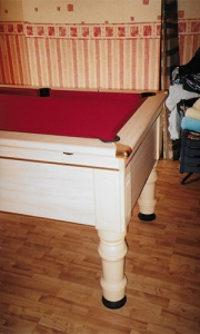 White oak pool table supplied and fitted