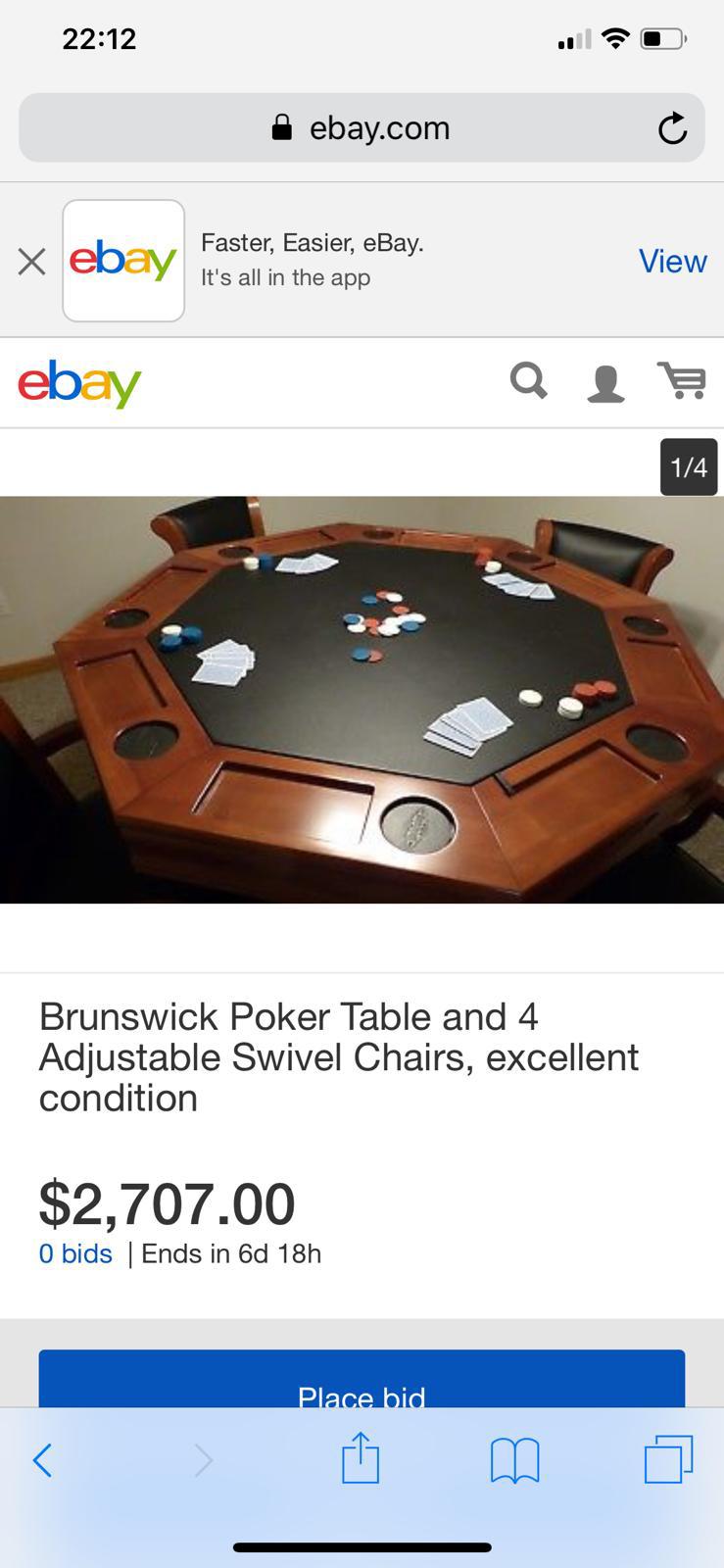Poker table ebay