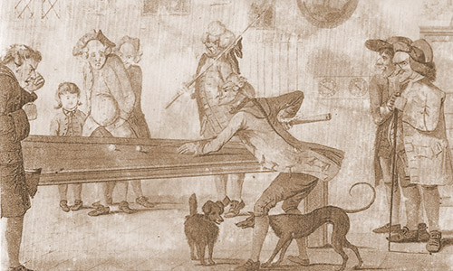 Billiards after Hogarth